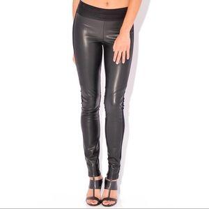 Paige Paloma Faux Leather Legging - Small